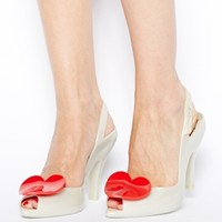 Vivienne Westwood for Melissa Red Heart Lady Dragon Heeled Sandals