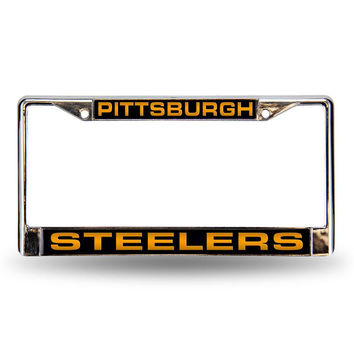 Pittsburgh Steelers NFL Laser Chrome License Plate Frame