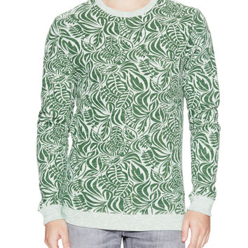 SLATE & STONE Men's Slub Printed Terry Sweater - Green -