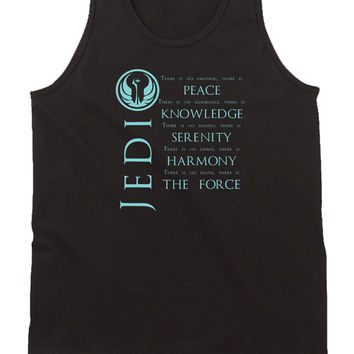 Jedi Star Wars Peace Knowledge Serenity Harmony The Force Mens Tank Top
