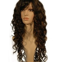 "NEW fashion HOT sexy Long Dark Brown Blonde Curly Wavy Full wigs Hair wigs for girls and women 24"" 60CM"