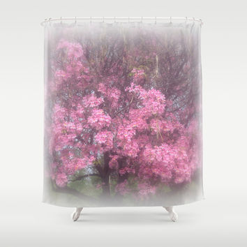 cherry's blossom - 3 Shower Curtain by Littlesilversparks