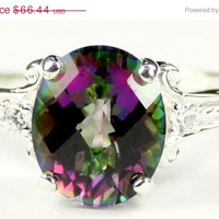 Christmas Sale: 30% Off, SR136, Mystic Fire Topaz, 925 Sterling Silver Ring