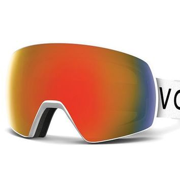 VonZipper - Satellite White Snow Goggles / Fire Chrome Lenses