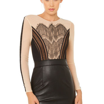 Whip It Good Dress - Black/Nude