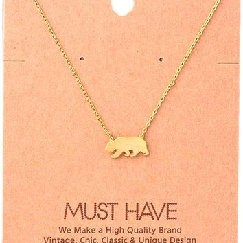 Must Have-Mama Bear NeckLace, Gold