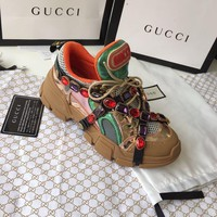 Gucci Flashtrek Sneaker With Crystals #1212