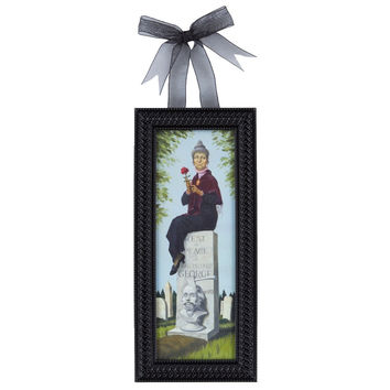 Disney Parks Haunted Mansion Woman & Grave Mini Frame New with Tags