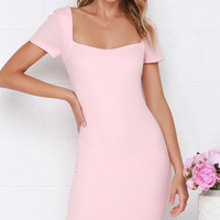 Photo Opportunist Blush Pink Bodycon Midi Dress