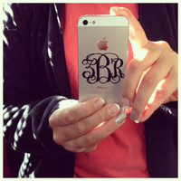 Vinyl Interlocking Monogram Decal for iPhone's 4 & 5