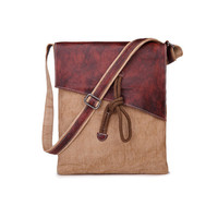 YUANGU Men and women retro package. Canvas + leather. High-quality products YG225