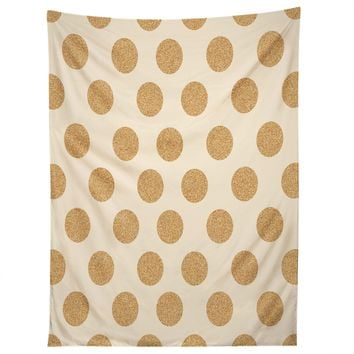 Gold Dots Tapestry