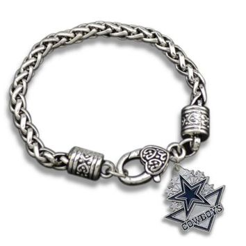 1pcs Zinc Alloy couple fashion Jewelry Dallas Cowboys bracelet