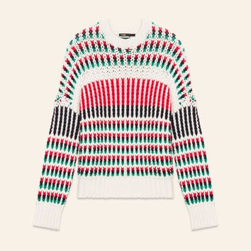MASSIMO Decorative multi-coloured knit jumper