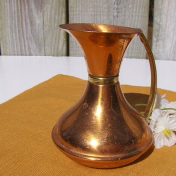 Vintage Copper Pitcher Miniature Vase Peerage by MyVintageAlcove