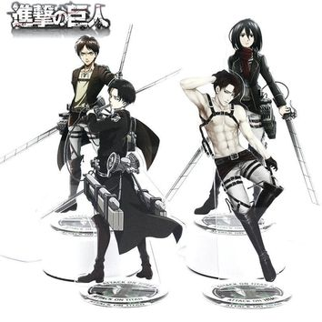 Cool Attack on Titan  Anime Toy Double Sided Plastic Action Figures Toy High Quality Collection Model Toys 21cm AT_90_11