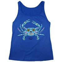Sugar Skull Crab (Royal Blue) / Ladies Tank