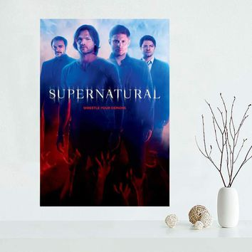 Custom Supernatural canvas poster Home Decoration Wall Art New arrival cloth Silk Fabric wall poster print