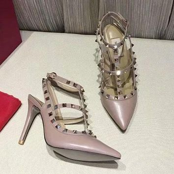 Valentino Women Fashion Casual Heels Shoes