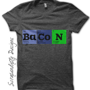 Iron on Bacon Shirt PDF - Geek Iron on Transfer / Baby Hipster Clothes / Funny Nerd Tshirt / Unique Mens Shirt / Kids Toddler Clothes IT130