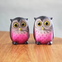 $18.00 Owl Salt and Pepper Shakers by CircusBearVintage on Etsy