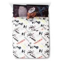 Star Wars Classic Death Star Fitted Sheet Set - White (Full)