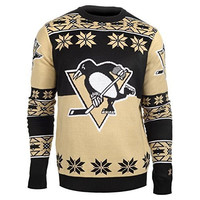 Pittsburgh Penguins Forever Collectibles KLEW Big Logo Ugly Sweater Sizes S-XXL w/ Priority Shipping