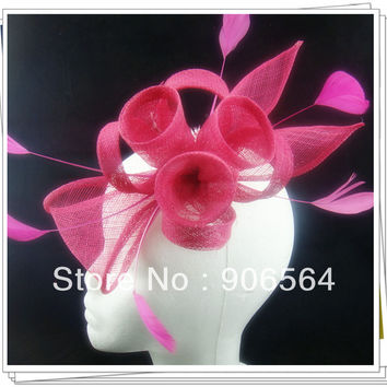 17 colors sinamay fascinator hats cute sinamay hair combs for wedding party headwear bridal headpiece occasion hats show hats