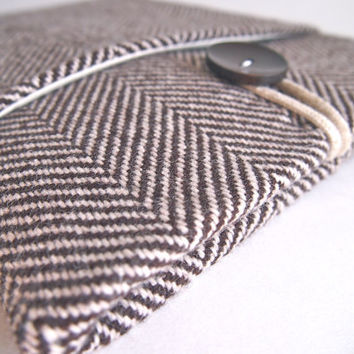 "13"" Laptop Case, Sleeve for MacBook Air, Lenovo Yoga or Custom Ultrabook - Herringbone"