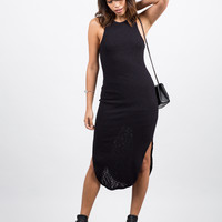 Ribbed Midi Dress - Large