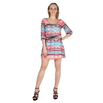 Boat Neck Long Sleeve Above Knee Party Dress