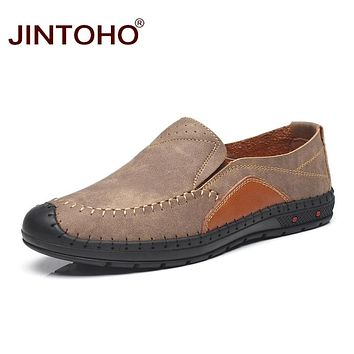 Fashion Loafers Breathable Men Leather Shoes Casual Shoes Male Designer Leather Flats Slip On Men Leather Loafers