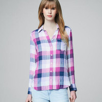 Prince & Fox Buffalo Plaid Button Down - Aeropostale