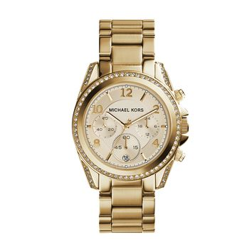 Michael Kors Blair Yellow Gold-Toned Stainless Steel Ladies Chronograph Watch
