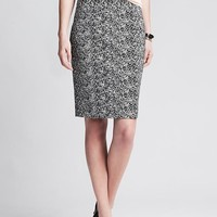 Banana Republic Womens Speckle Print Pencil Skirt