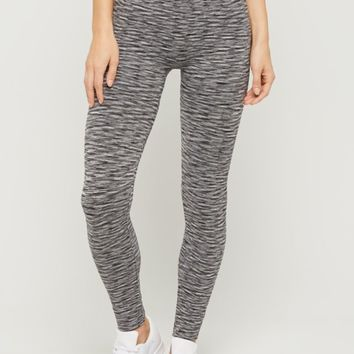 Black Space Dye High Rise Legging | Leggings | rue21