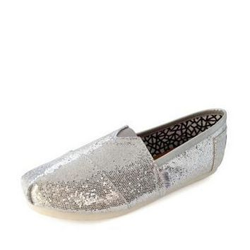 TOMS WOMEN FLAT SHOES FASHION LEISURE LOAFERS 35-40