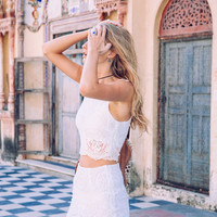 Lennie Lace Skirt Off White