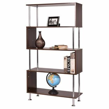 Modern Bookcase Wooden Bookshelf Storage Display Unit Furniture (4-Tier)