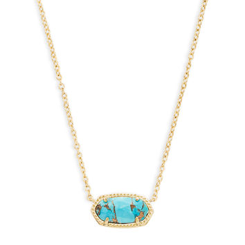 Elisa Gold Pendant Necklace in White Pearl | Kendra Scott