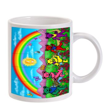 Gift Mugs | The Grateful Dead Dancing Bear In The Park Ceramic Coffee Mugs