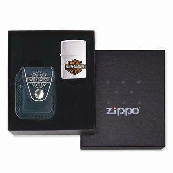 Zippo H-D Lighter Pouch Gift Box (lighter not included)