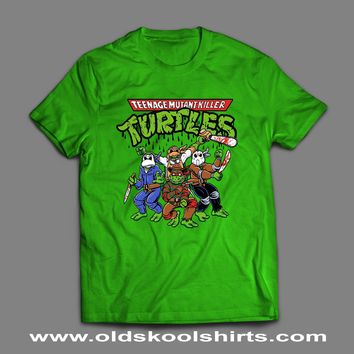 "TEENAGE MUTANT NINJA TURTLES ""HORROR MOVIE VILLAINS"" MASH UP T-SHIRT"
