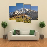 Majestic Volcano Damavand Highest Peak Multi Panel Canvas Wall Art