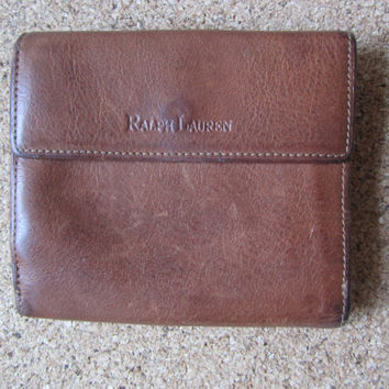 Ralph Lauren Leather Wallet Soft and Roomy Lots of Compartments