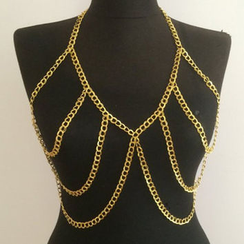 Alloy Cut Out Body Chain