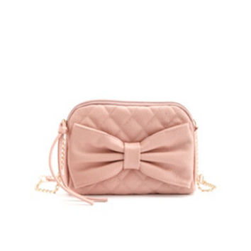 BOW-TOPPED QUILTED CROSS-BODY BAG