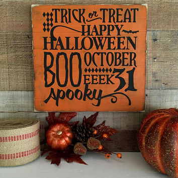 Halloween Sign,Happy Halloween Decoration,Spooky Decor,Halloween Signs,Halloween Party Decor,Scary Halloween Sign,Haunted Halloween