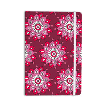 "Sarah Oelerich ""Raspberry Flower Burst"" Magenta Everything Notebook"