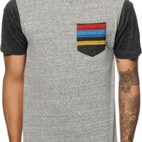 Zine Sunset Strip Striped Pocket T-Shirt